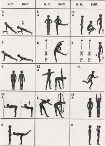 Комплекс общеразвивающих упражнений для начинающих продолжение