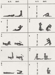 Комплекс гигиенической гимнастики
