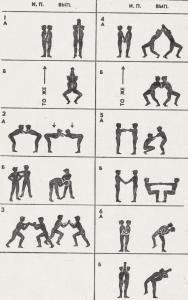 Комплекс упражнений с партнером